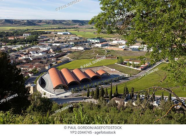 Aerial view of Bodegas Protos - Peñafiel, Valladolid Province, Castile and León, Spain