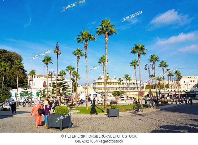 Grand Socco, Ville Nouvelle, new town, Tangier, Morocco, northern Africa