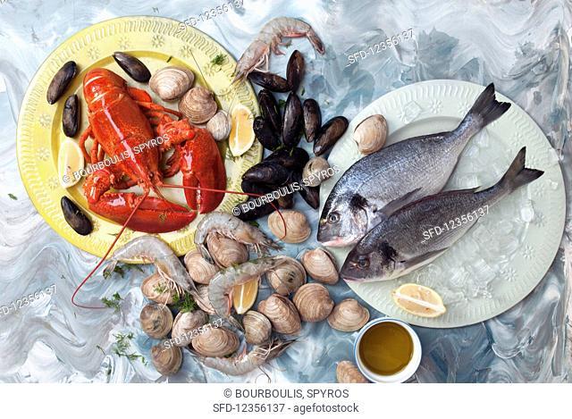 A fresh seafood platter