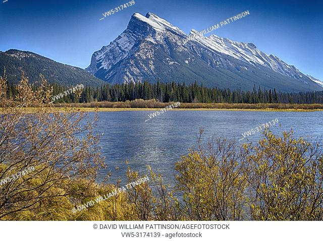 HDR Mount Rundle Banff National Park Alberta Canada