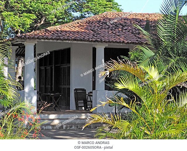 fortaleza old antique house residence facade