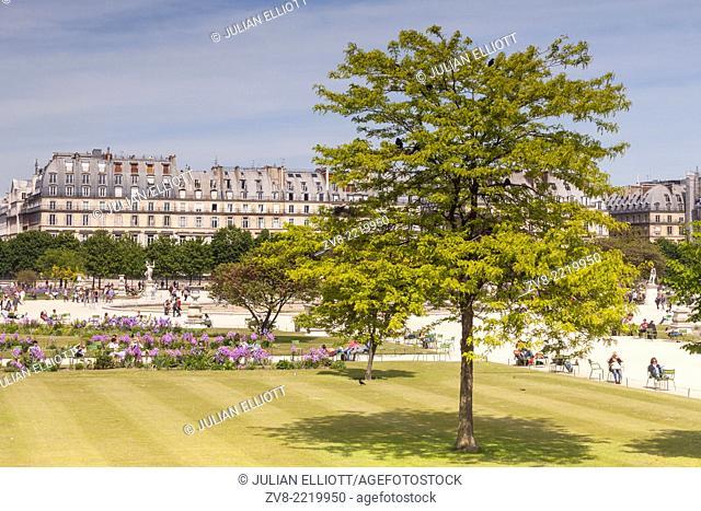 Jardin des Tuileries in the city of Paris