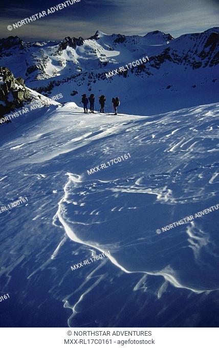 ski touring, Coast Mountains, BC