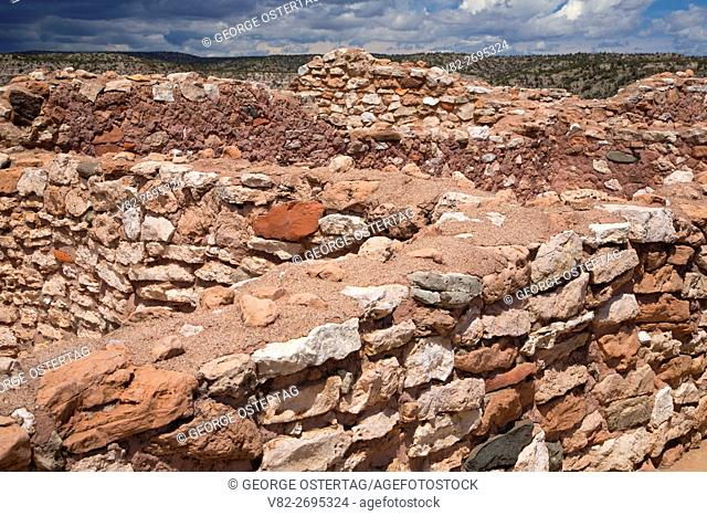 Tuzigoot Pueblo ruins, Tuzigoot National Monument, Arizona