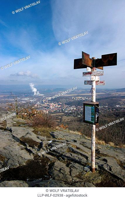 Top of the Boren Hill, Bilina, Usti nad Labem Region, Czech Republic