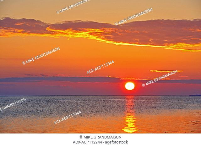 Sunrise on Caraquet Bay, Caraquet, New Brunswick, Canada