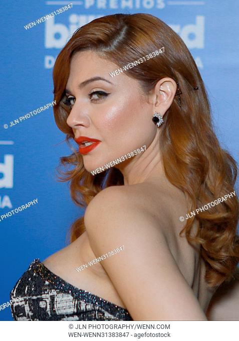 Angelica Celaya attending the Billboard Latin Music Awards at Watsco Center in Miami, Florida. Featuring: Angelica Celaya Where: Miami, Florida