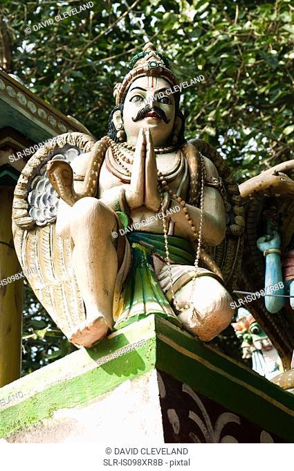 Hindu statue praying, Kerala