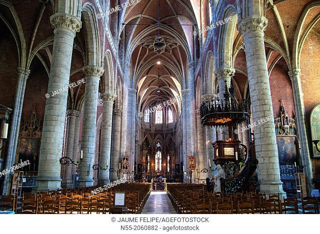 Interior of Sint-Baafs Cathedral (XVI Century). Ghent, West Flanders, Belgium