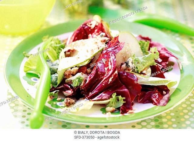 Radicchio salad with pears
