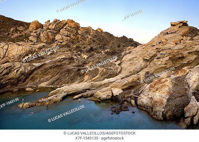 Culleró cove  Cap de Creus Natural Park  Landscape that inspired some of Dalí's paintings Costa Brava  Girona province  Catalonia  Spain