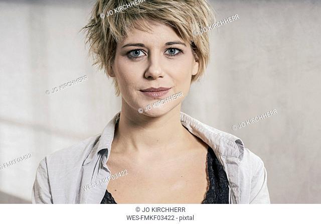 Portrait of blond woman