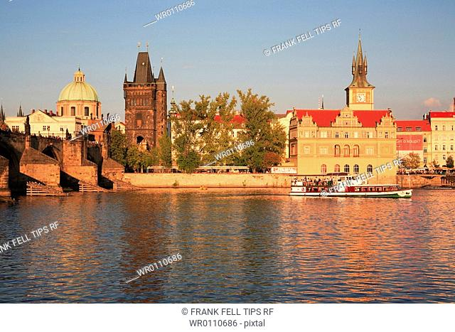 Czech Republic, Prague, Vltava River, the Charles Bridge
