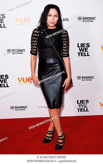 Celebs arrive on the red carpet for the Raindance Film Festival: Lies We Tell - world film premiere at the VUE Cinema West End Featuring: Andrea Corr Where:...