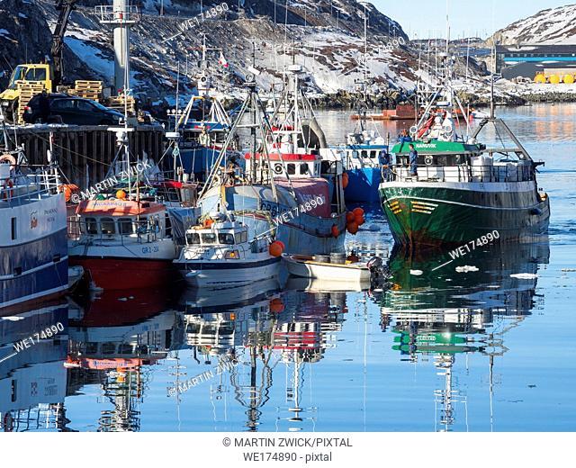 Nuuk Harbour. Nuuk, the capital of Greenland. America, North America, Greenland