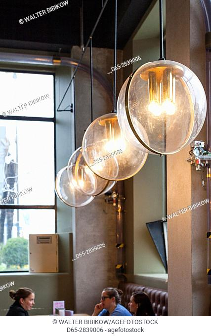 New Zealand, South Island, Christchurch, C1 Espresso cafe, located in old post office, interior