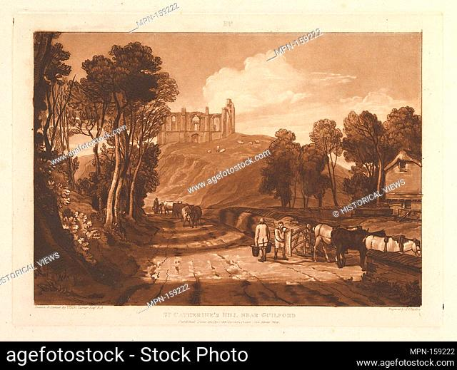 St. Catharine's Hill near Guilford (Liber Studiorum, part VII, plate 33). Artist: Designed and etched by Joseph Mallord William Turner (British