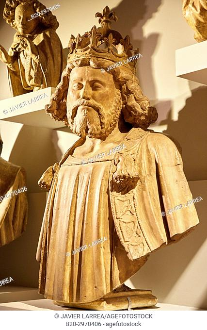 David, Moulages des Bustes des Prophetes et des Anges du Puits de Moise, Chartreuse de Champmol, Fine Arts Museum, Musée des Beaux-Arts, Dijon, Côte d'Or