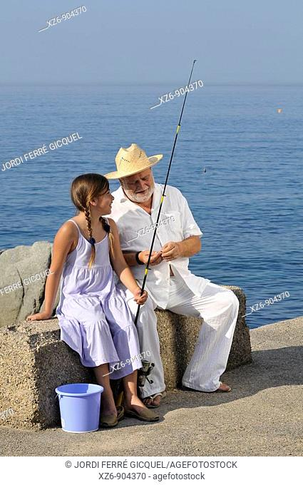 morning fishing with grandpa