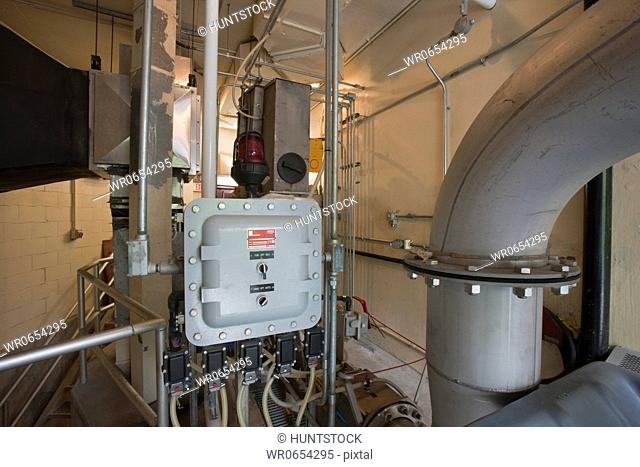 Purification machineries at a water treatment plant