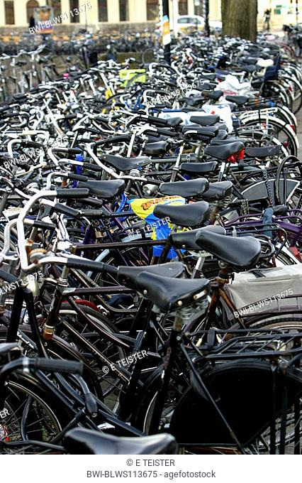 parking place for bicycles, park and ride, Germany, Osnabrueck
