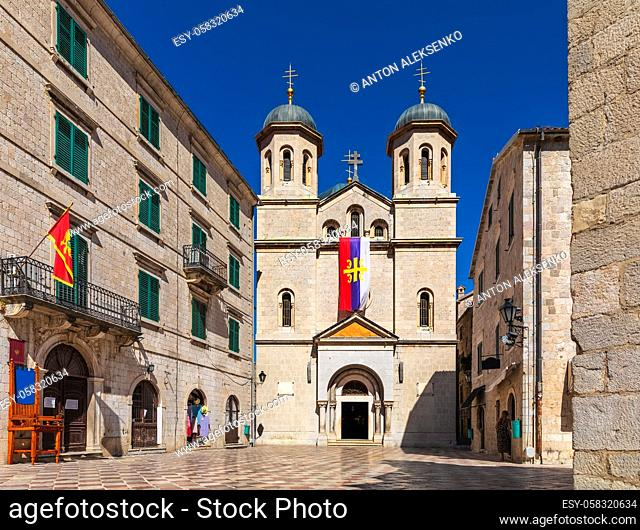 Saint Michael Church on the square in Old Town of Kotor, Montenegro