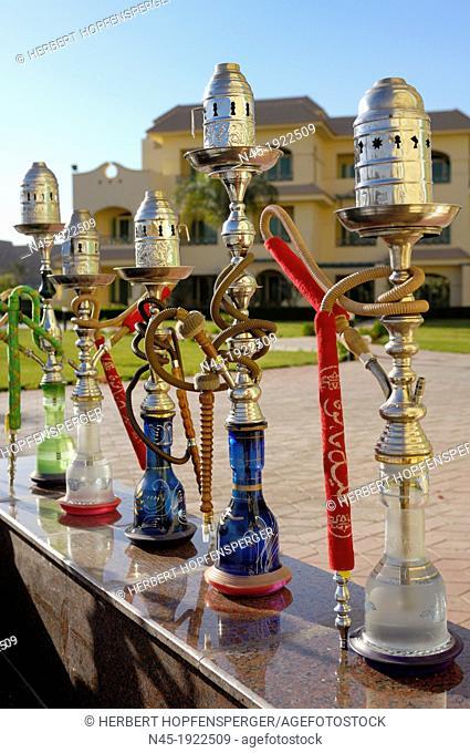 Water Pipe; Arabic Sheesha; Hookahs; Hookah or Hubble Bubble; Arabic Style; Cairo; Egypt