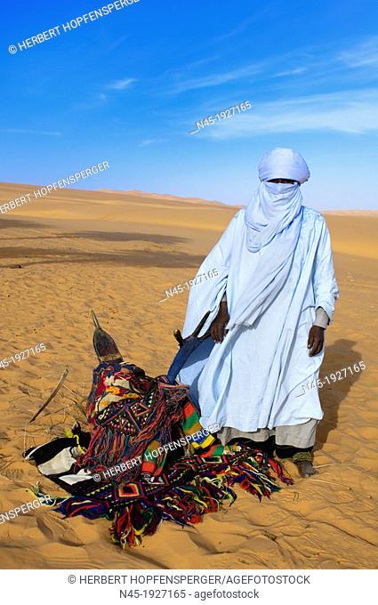 Tuareg; special Costume for Festival; Libyan Arab Jamahiriya; Libyan Desert