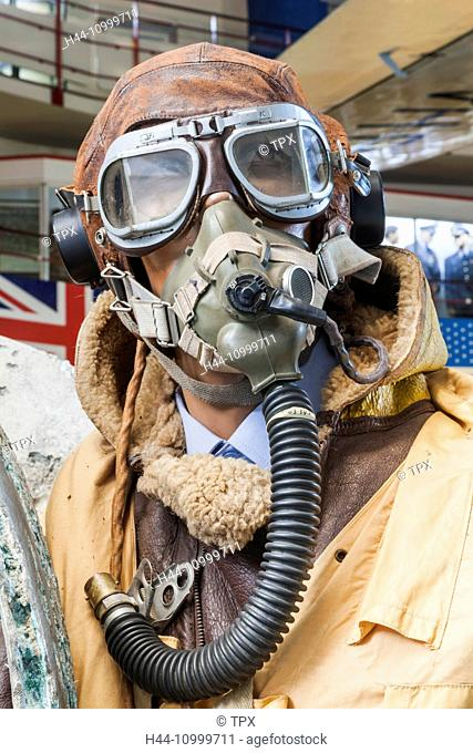 England, Hampshire, Southampton, The Solent Sky Museum, Display of WWII Fighter Pilot