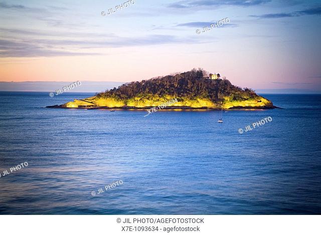 Santa Clara Island  San Sebastián  Gipuzkoa  Basque Country  Spain