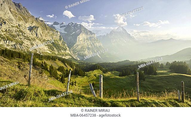 north face of the Eiger, mountain Mätten, Große Scheidegg, Grindelwald, the Bernese Oberland, Switzerland