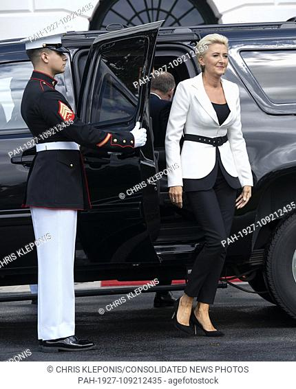Mrs. Agata Kornhauser-Duda the spouse of the President of the Republic of Poland Andrzej Duda arrives at The White House in Washington, DC, September 18, 2018