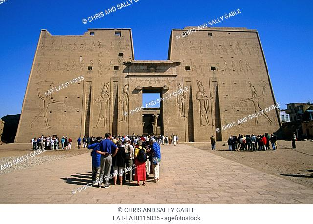 The Temple of Edfu is one of the best preserved temples remaining from Ancient Egypt. It is dedicated to Horus, and was built between 237 - 57 BCE during the...