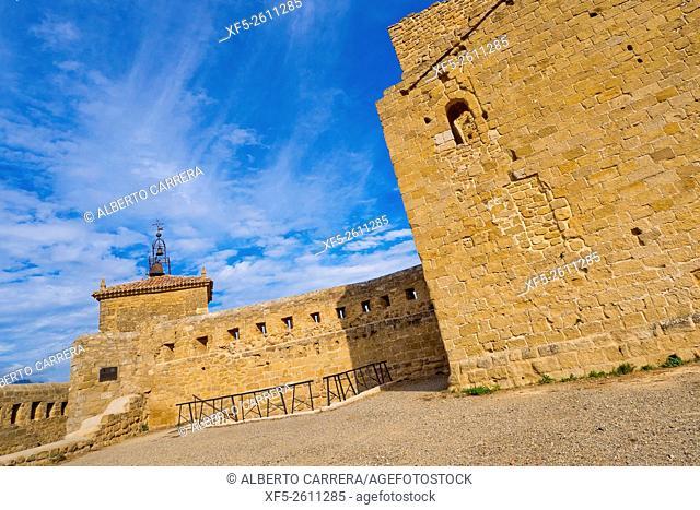 Church-Fortress Santa María la Mayor, National Monument, San Vicente de la Sonsierra, La Rioja, Spain, Europe