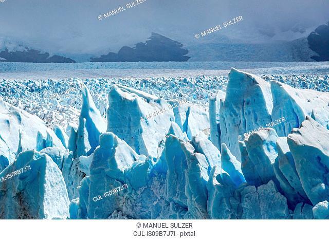Storm clouds over Perito Moreno Glacier, Los Glaciares National Park, Patagonia, Chile