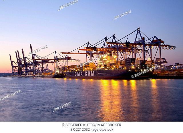 Burchardkai quay, Hamburg, Germany, Europe