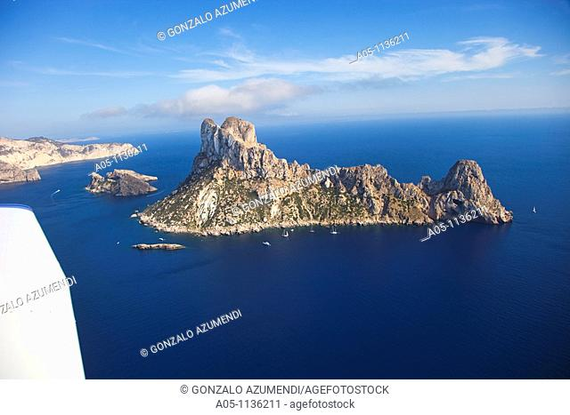 Natural Area Es Vedra y Es vedranell. Small barren islands. Ibiza. Balearic Islands. Spain
