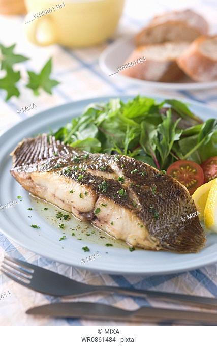Olive Flounder Meuniere