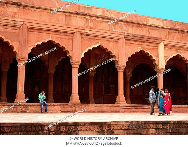 Views of the Agra Fort, the former imperial residence of the Mughal Dynasty, It was used to hold Shah Jahan under house arrest by his son Aurangzeb