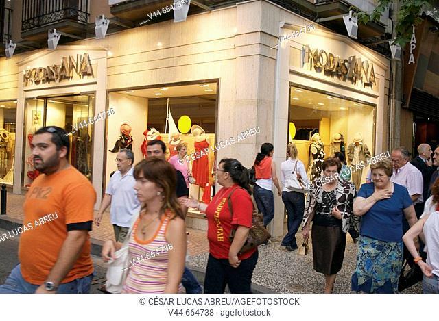 El Coso street, city center commertial quarter. Zaragoza, Aragon. Spain