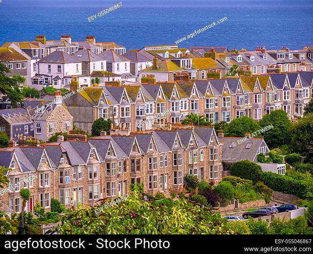 St Ives - a beautiful town at the English coast of Cornwall