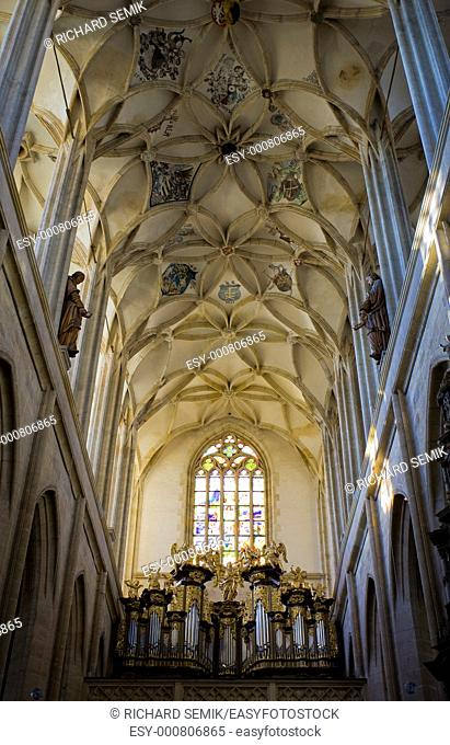 interior of Cathedral of St  Barbara, Kutna Hora, Czech Republic