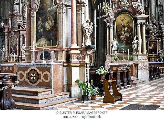 Interior view Stephansdom Vienna Austria