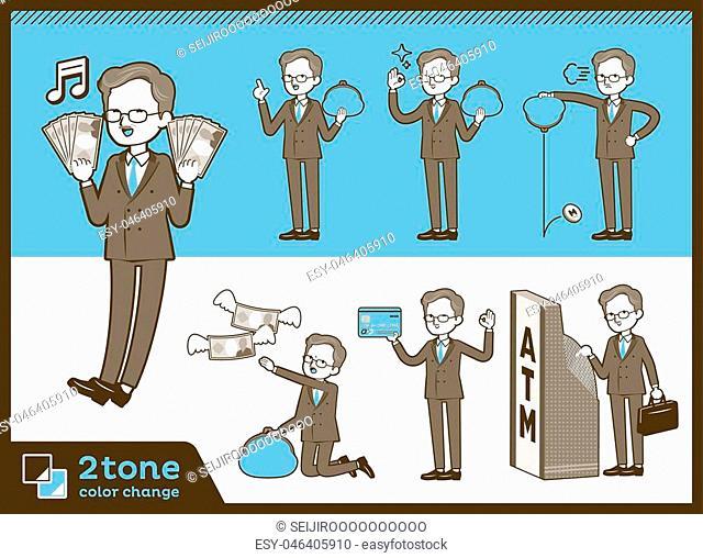 2tone type Double suit old men-set 11