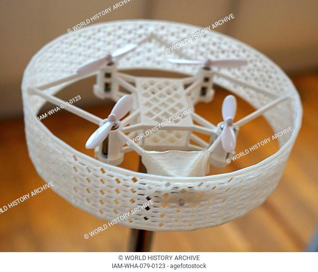 3D Printed prototype of a Domestic Drone, used ensure security of the domestic environment. Dated 21st Century