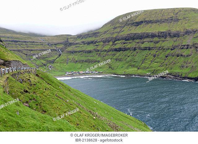 Bay of Tjørnuvík, Tjoernuvik, Streymoy, Faroe Islands, Denmark, North Atlantic