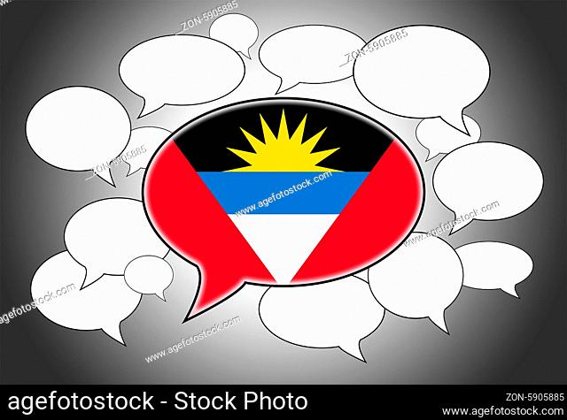 Speech bubbles concept - spoken language is from Antigua and Barbuda