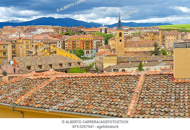 City View, Segovia, UNESCO World Heritage Site, Castilla y León, Spain, Europe