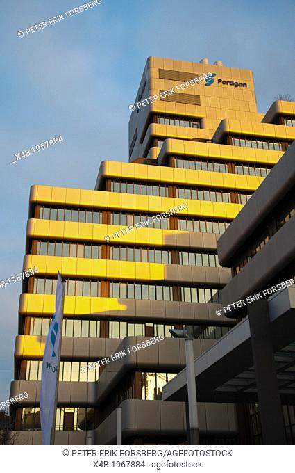Office block housing Portigo and other companies and offices Friedrichstadt district DusseldorfGermany Europe