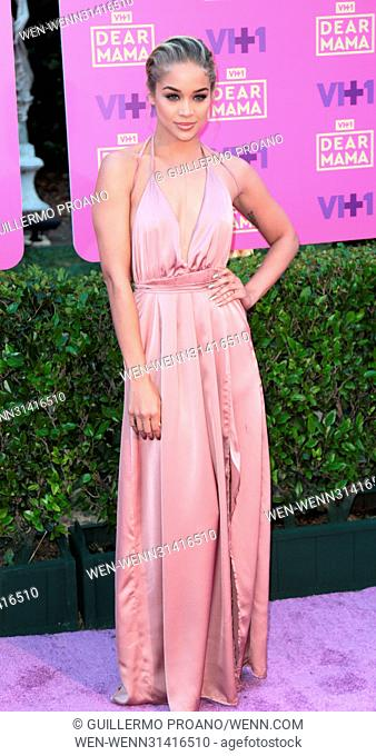 VH1's 2nd Annual 'Dear Mama: An Event To Honor Moms' at Huntington Library in Pasadena - Arrivals Featuring: Jasmine Sanders Where: Los Angeles, California